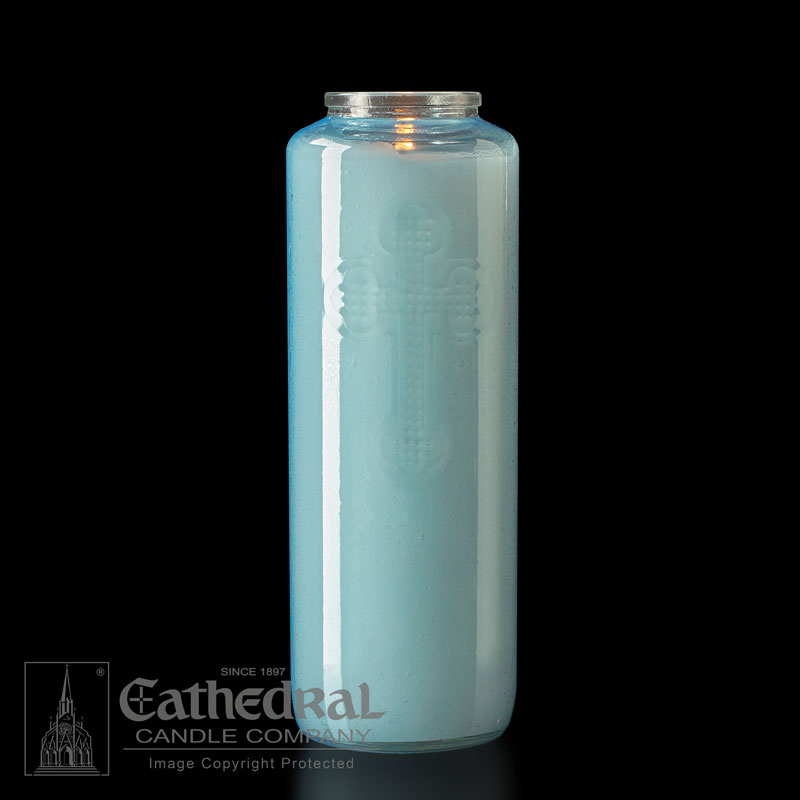 Offering Candle | 6 Day | Light Blue