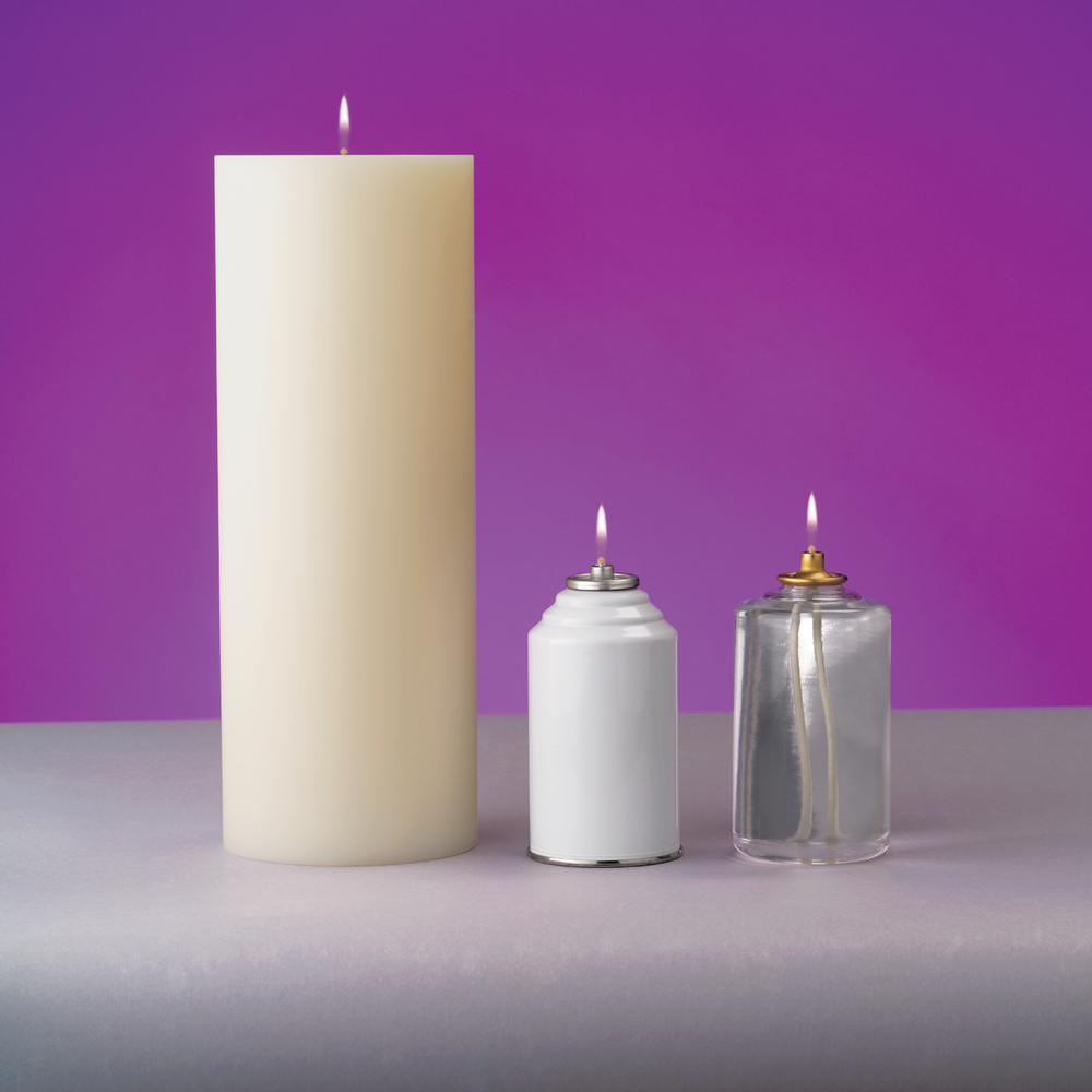 Oil Burning Candle Shell | 4-1/2 Inch Diameter