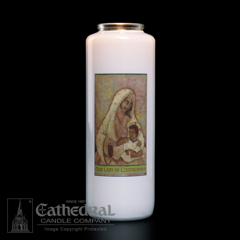 Our Lady of Czestochowa Patron Saint Candle