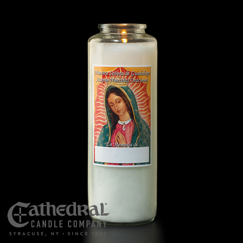 Our Lady of Guadalupe Memorial Candles | 6 Day Candle | per dozen
