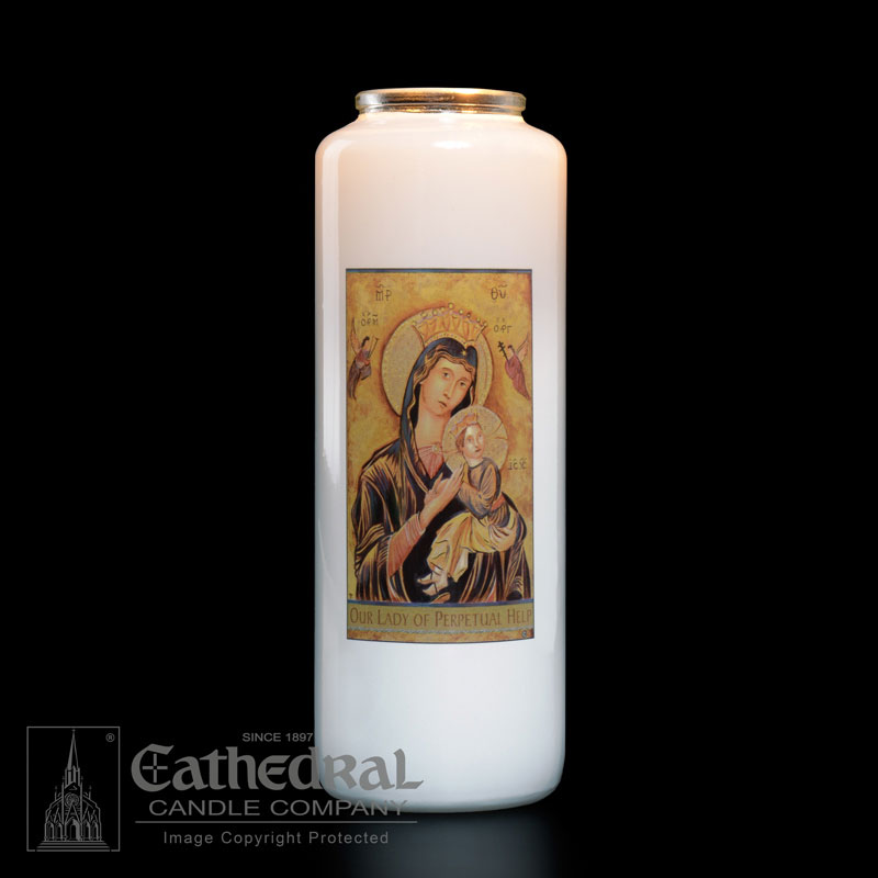 Our Lady of Perpetual Help Patron Saint Candle