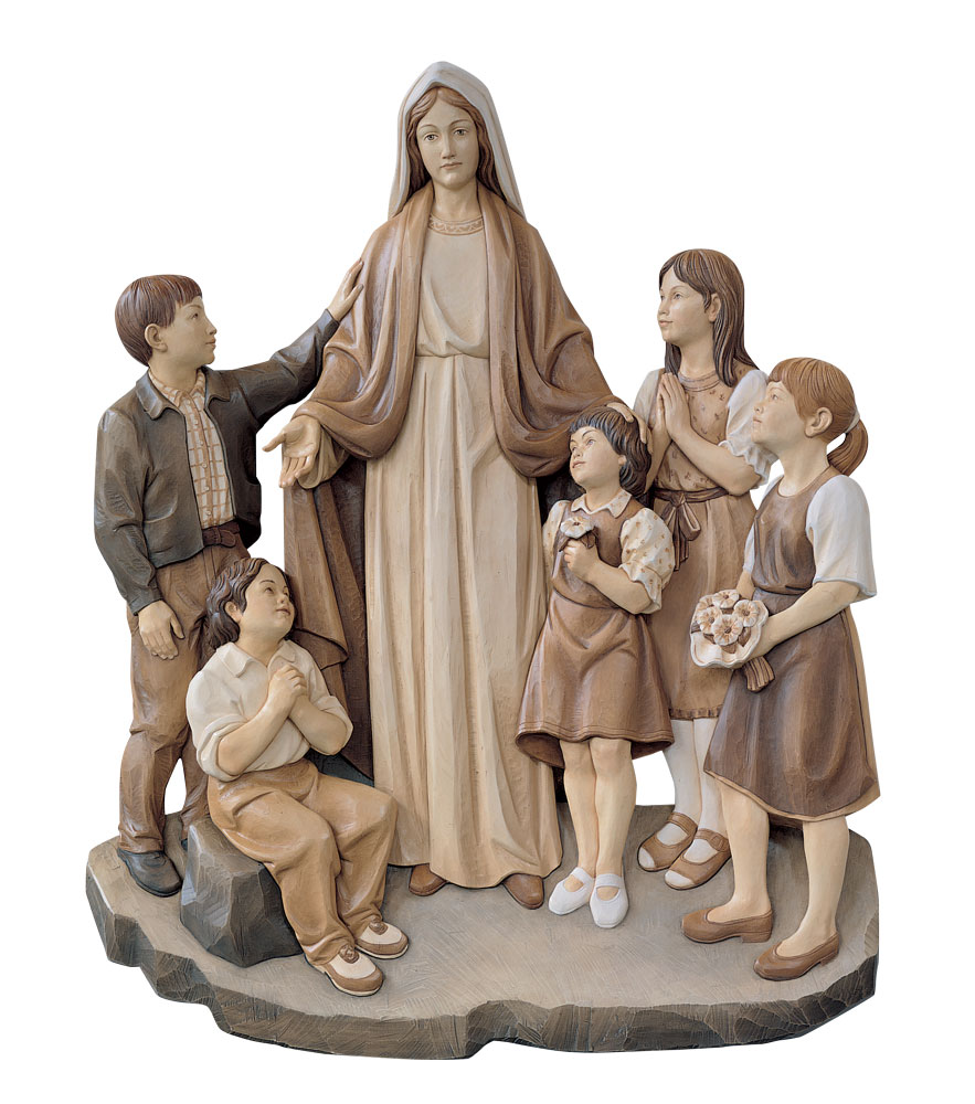 Our Lady with Children Statue | Demetz