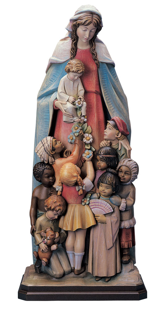 Our Lady with Children of the World Statue | Demetz