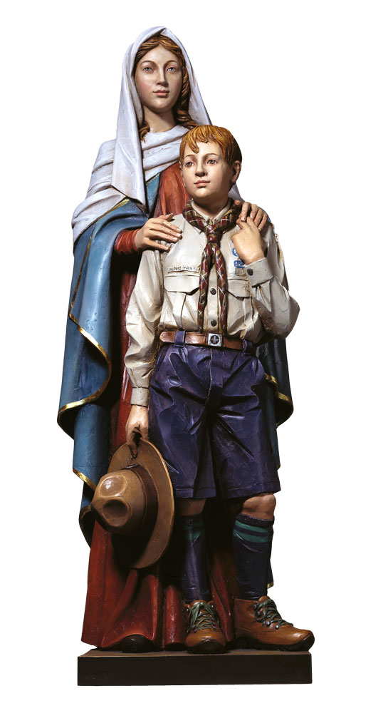 Our Lady with the Boy Scout Statue | Demetz