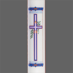 Paschal Candle Shell - Cross Design