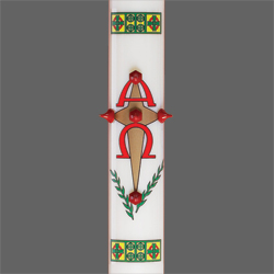 Oil Paschal Candle Shell | Alpha Omega Cross
