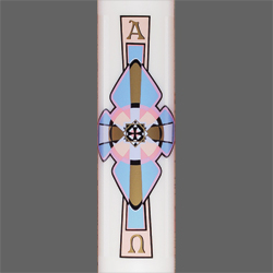 Paschal Candle Shell - Cross