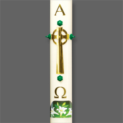 Paschal Candle Shell - Brass Celtic Cross