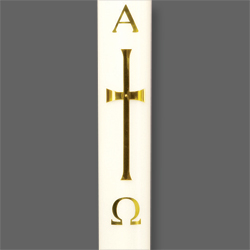 Paschal Candle Shell - Brass Cross
