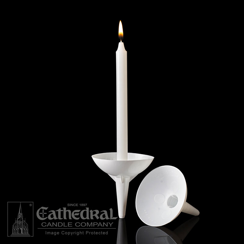 Vigil Candle Reusable Plastic Handle/Holder Drip Protectors