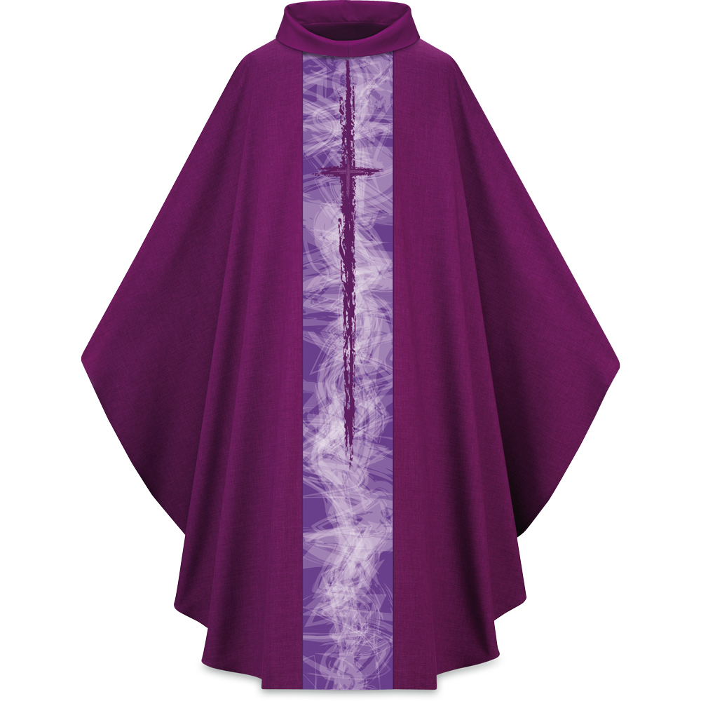 Lightweight Chasuble | Cross Motif 5249 | Purple