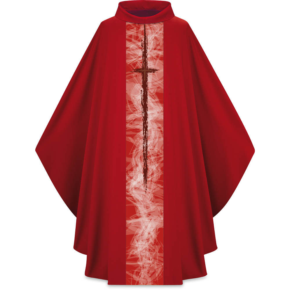 Lightweight Chasuble | Cross Motif 5249 | Red