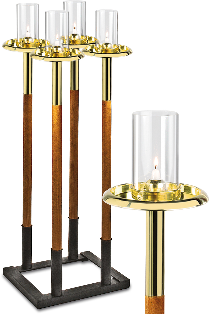 Processional Torches, polished brass