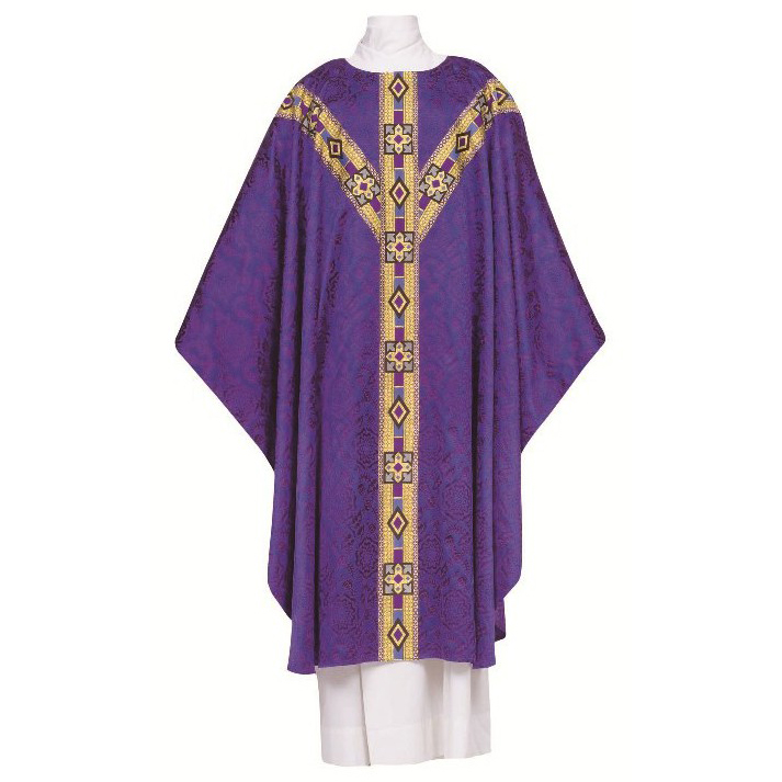 Chasuble | Purple Damaskk