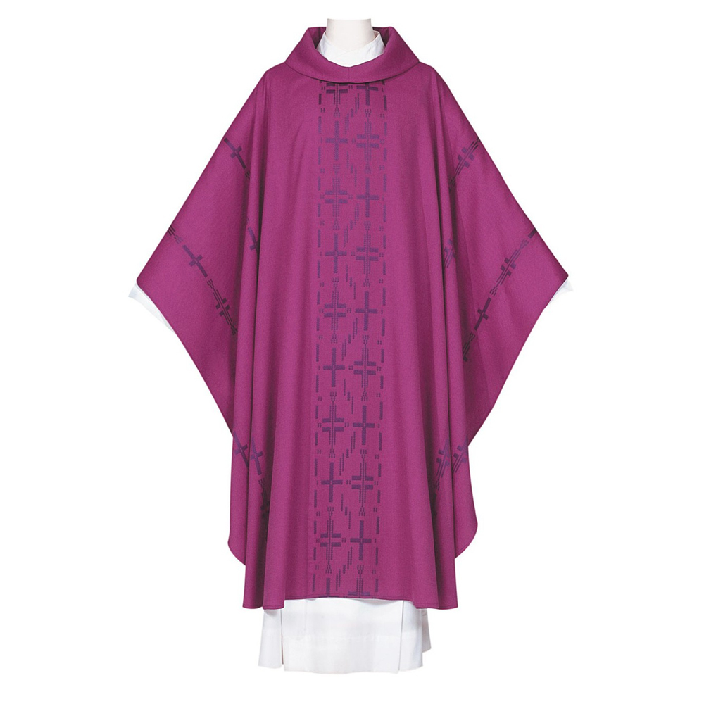 Purple Chasuble | style 7886 | Poly Wool