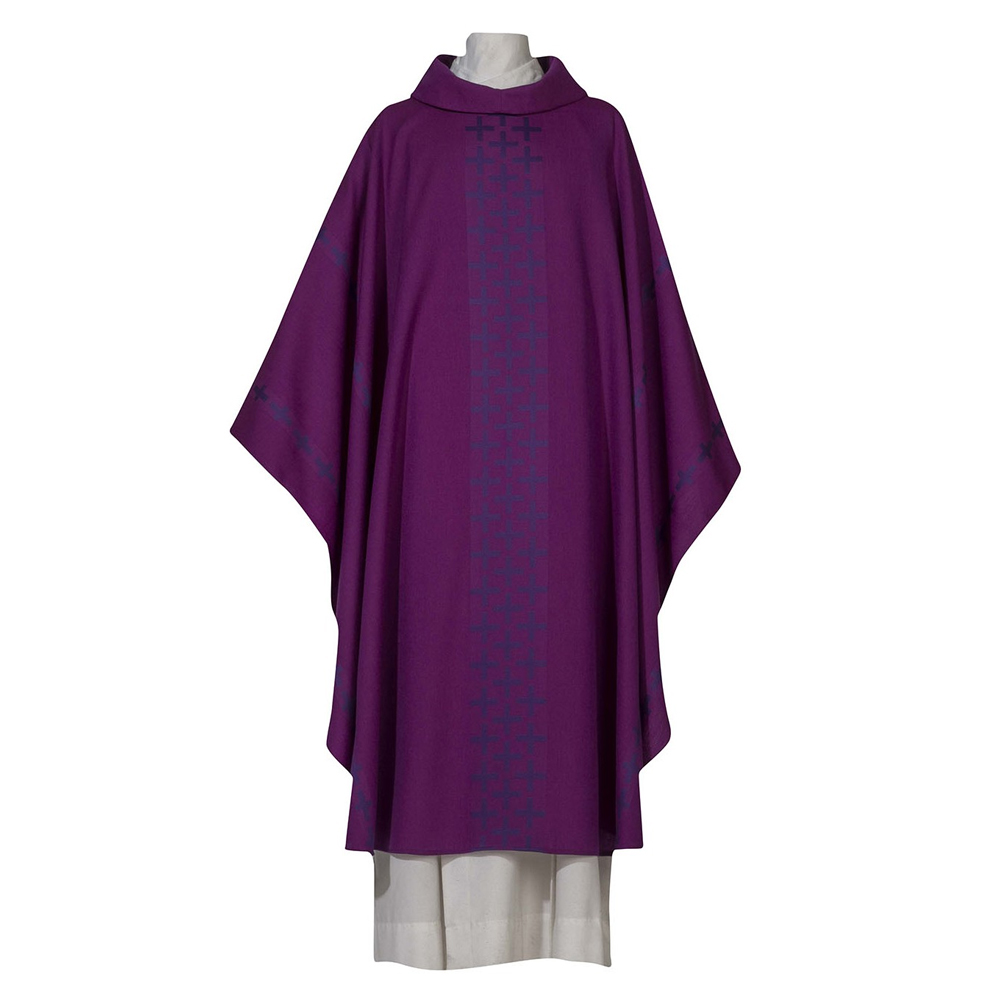 Purple Chasuble | Style 7894 | Wool Polyester