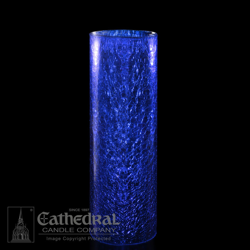 14 Day Glass Sanctuary Globe | Blue | Crackle Cylinder