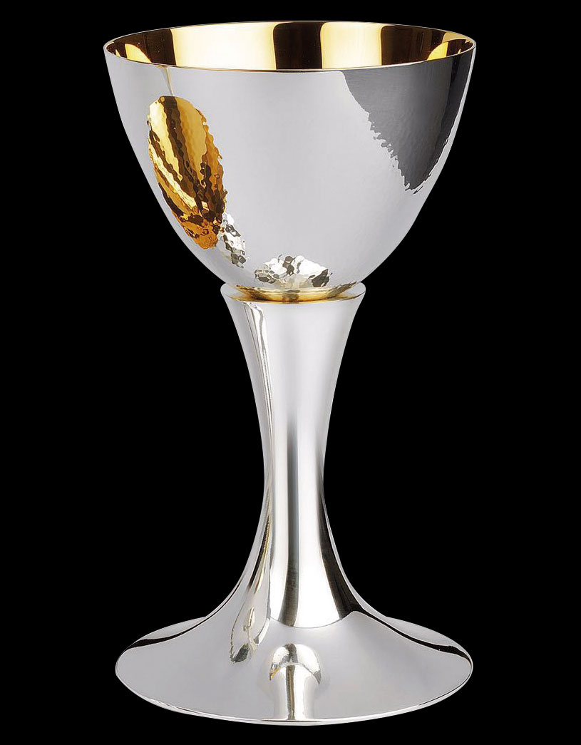 Silver Chalice | Hammered Cup | 16 oz