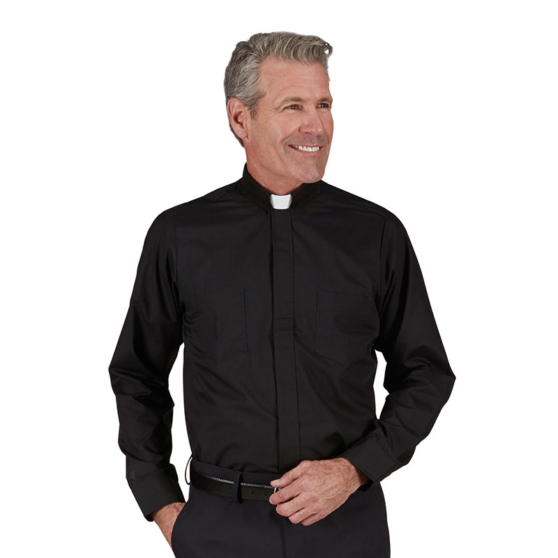 SLIM FIT Clergy Shirt | Tab Collar | Long Sleeve | RJ Toomey