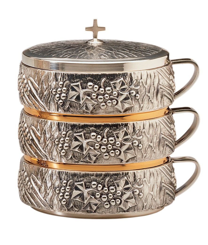 Stacking Ciboria | Silver and Gold | 4012