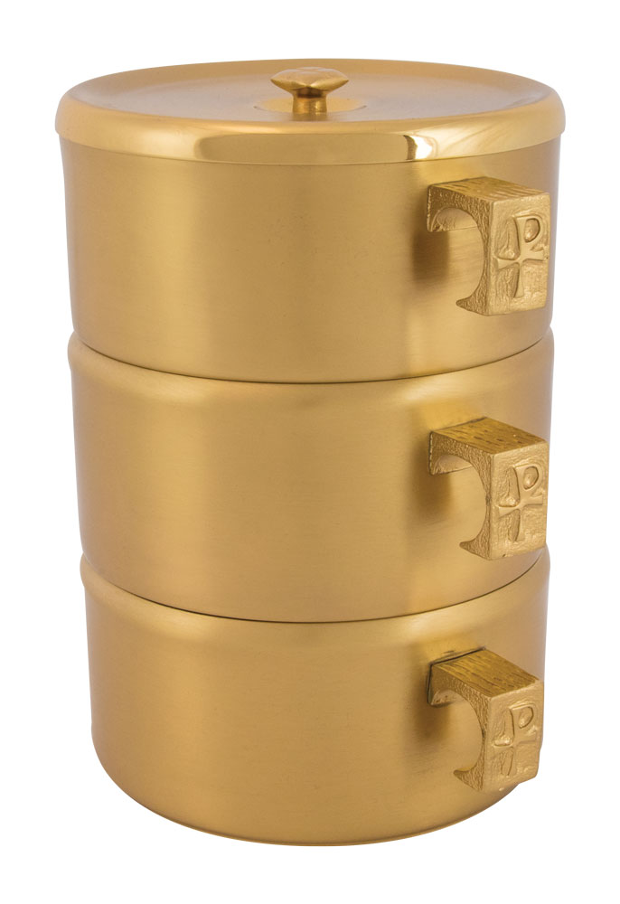 Stacking Ciboria | Gold Plated | 453g