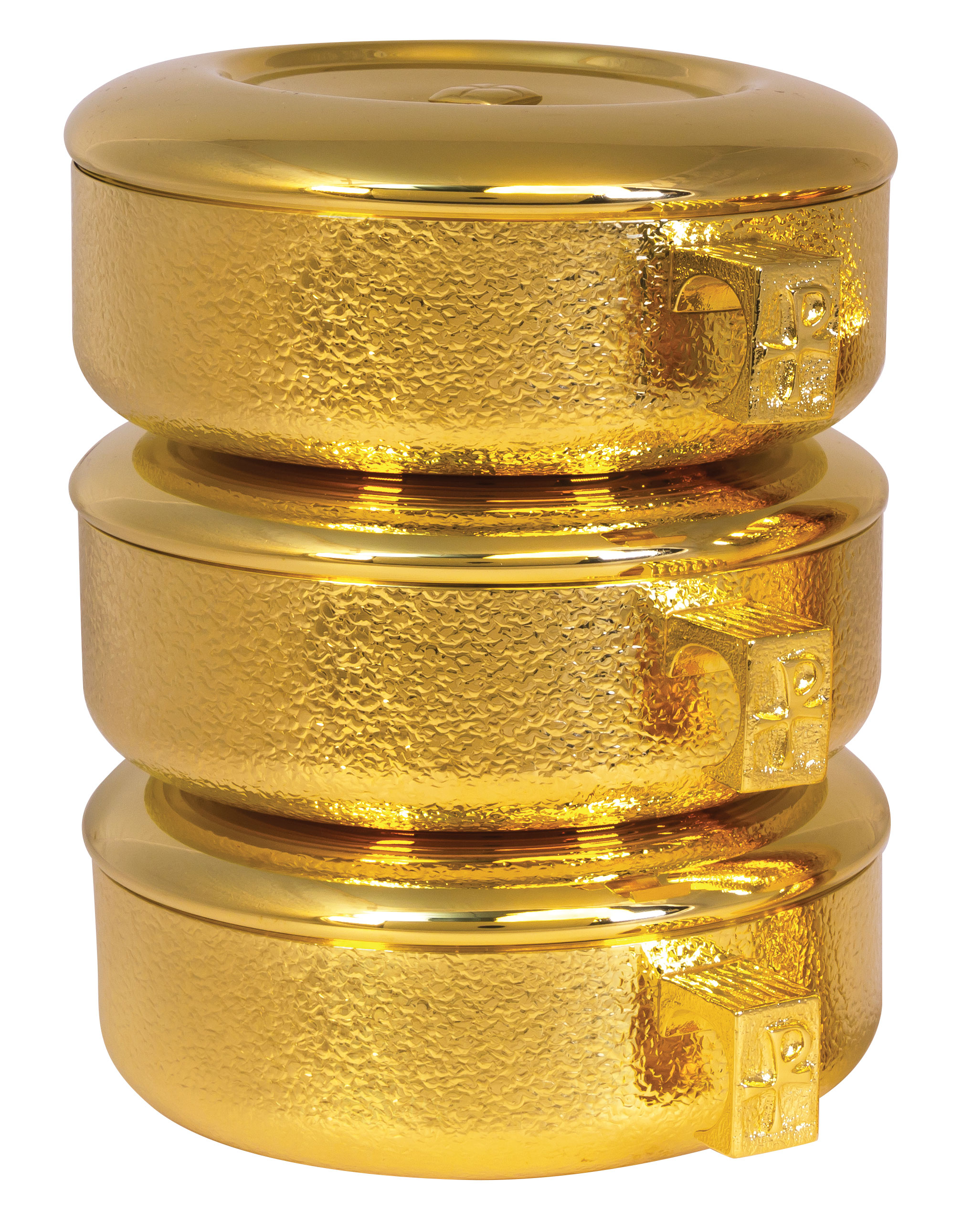 Stacking Ciboria | Gold Plated Talon Texture | 460G