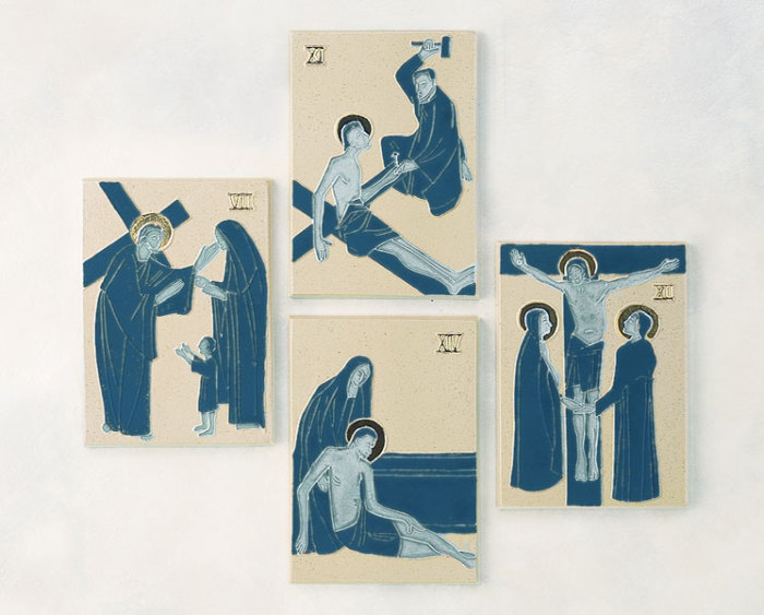 Stations of the Cross | Cobalt Blue and Gold