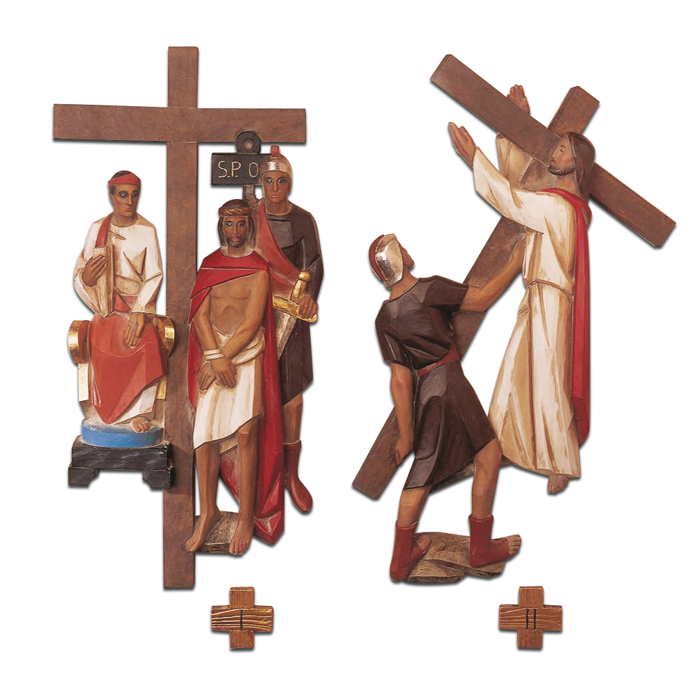 Stations of the Cross | Set of 14 | Cast Polyester