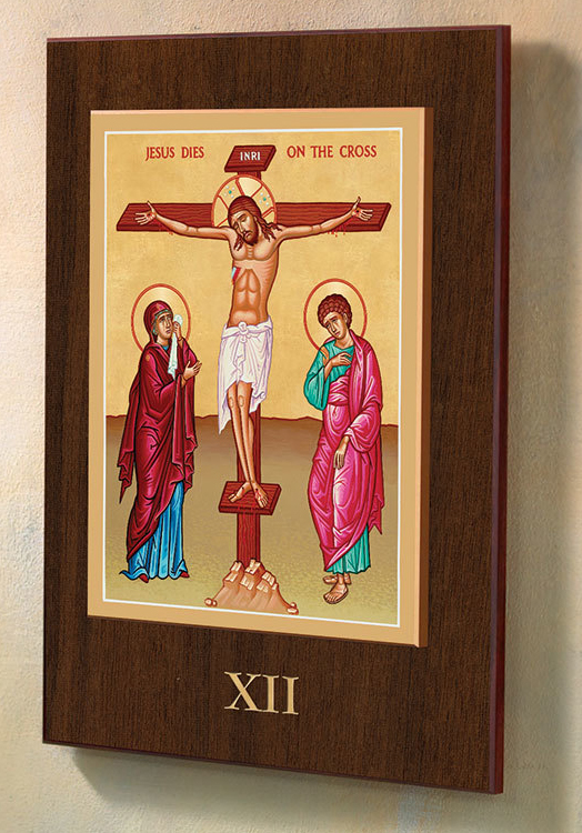 Stations of the Cross Plaques | Byzantine Iconography | Set of 14