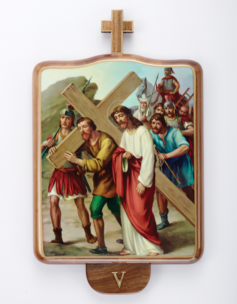 Stations of the Cross | Wood | Set of 15 | Small Size