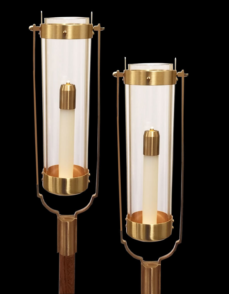 Swinging Processional Torch | Clear Globe | per pair