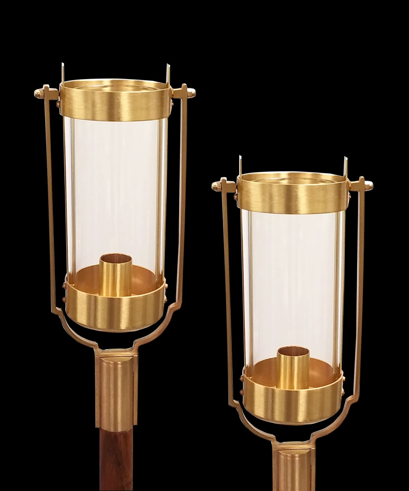 Swinging Processional Torch 898X | Clear Globe | per pair