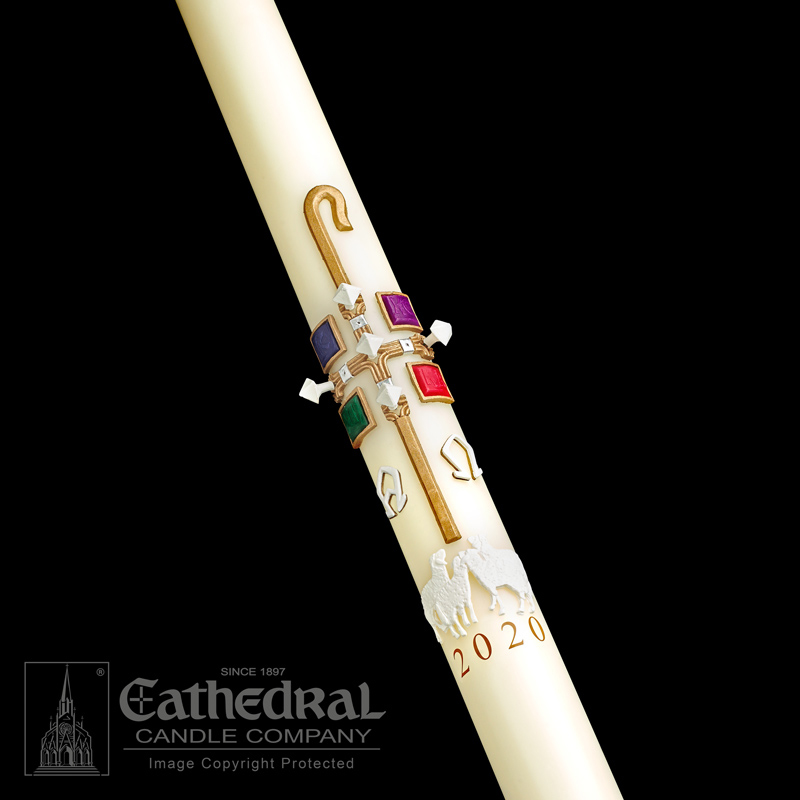 Paschal Candle | The Good Shepherd | Sculptwax