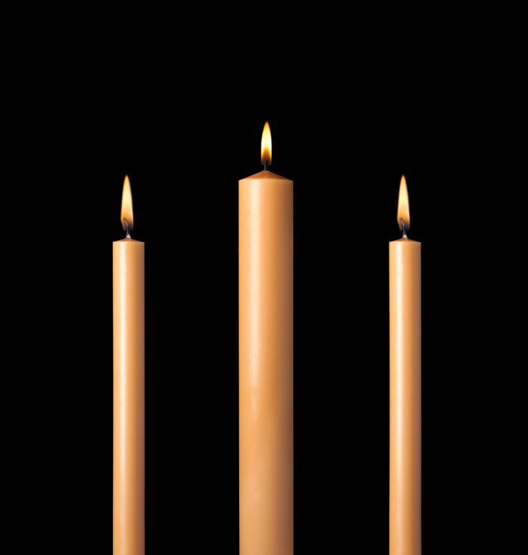 Unbleached Altar Candles for Lent