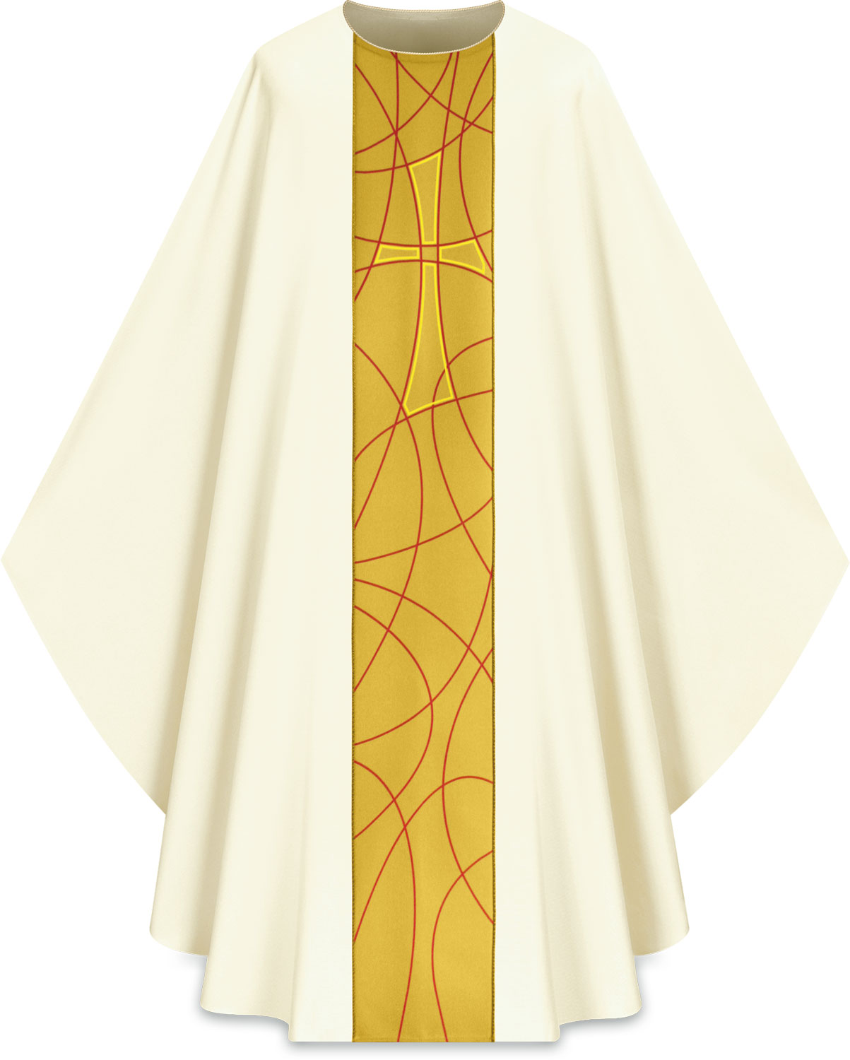 Chasuble | White Gold | 5230 | Slabbinck