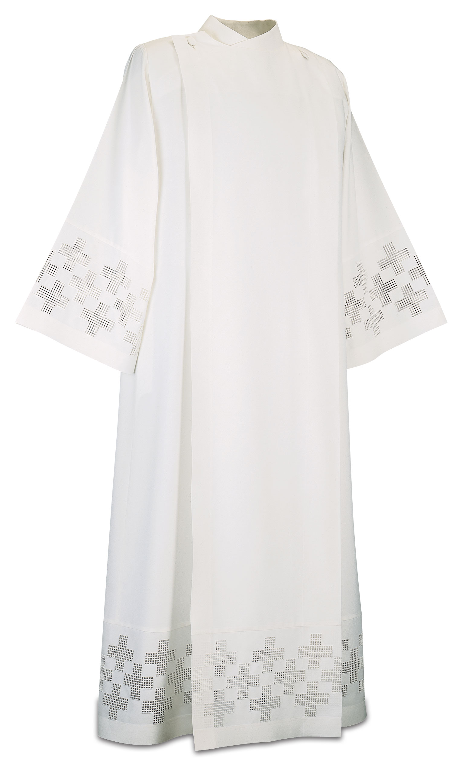 Women's Alb, embroidered crosses