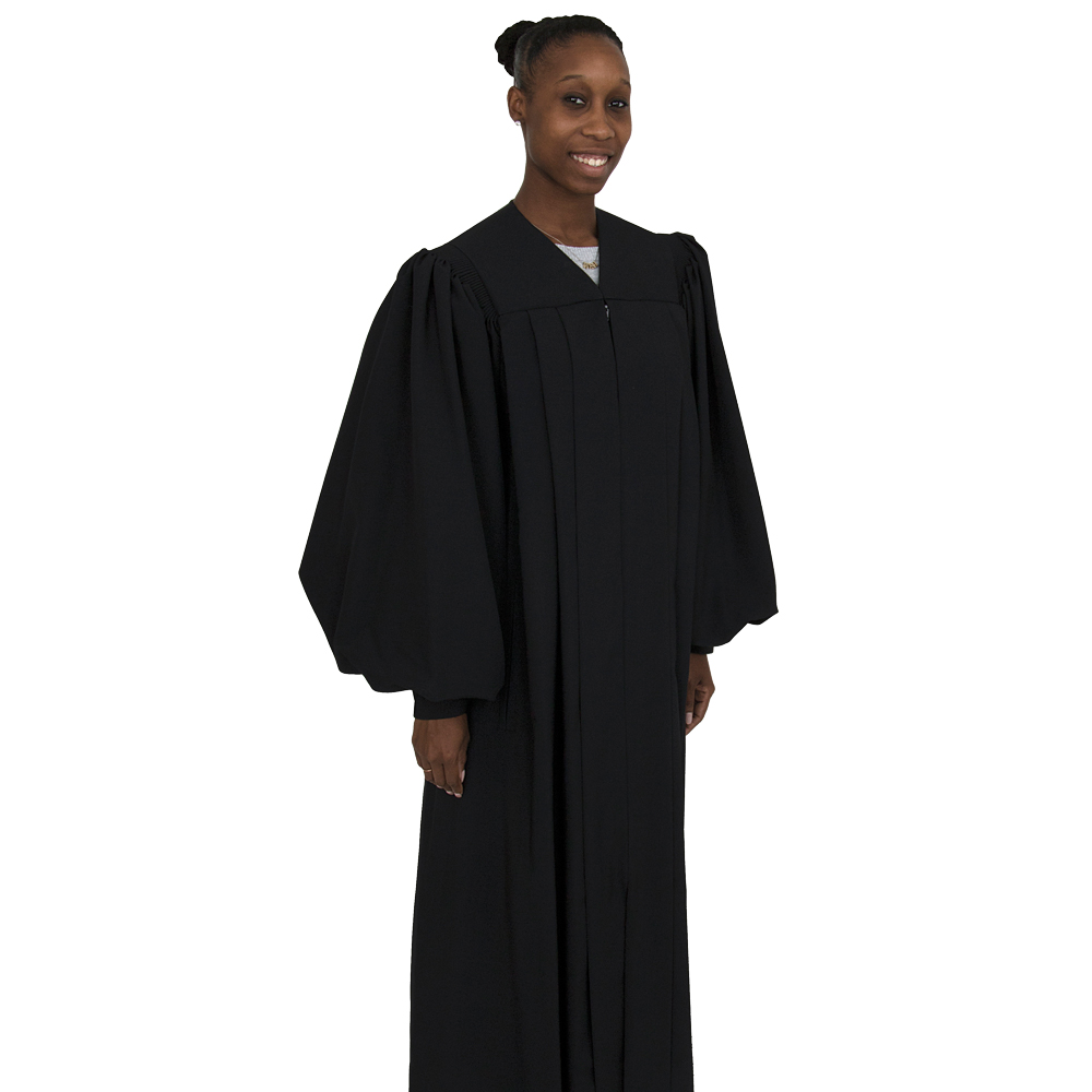 Women's Clergy Robe | Black | Plymouth H-1