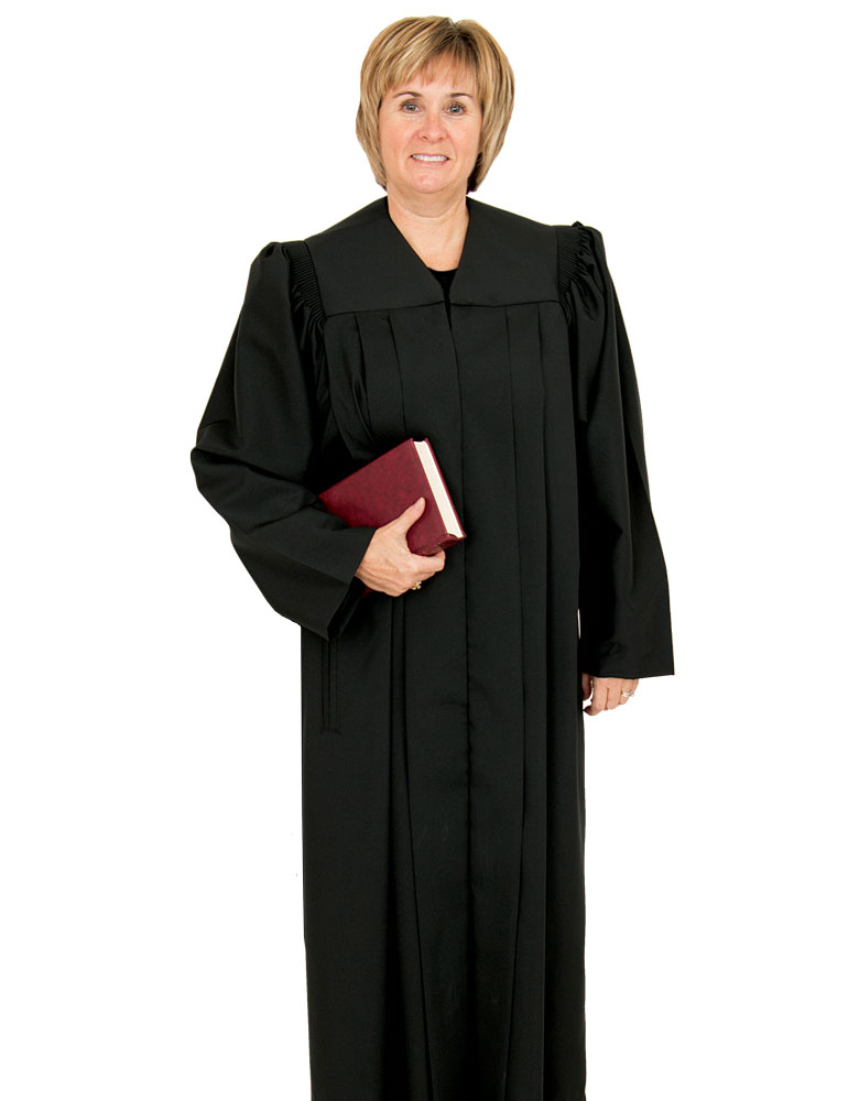 Women's Clergy Robe | Black | Plymouth H-203