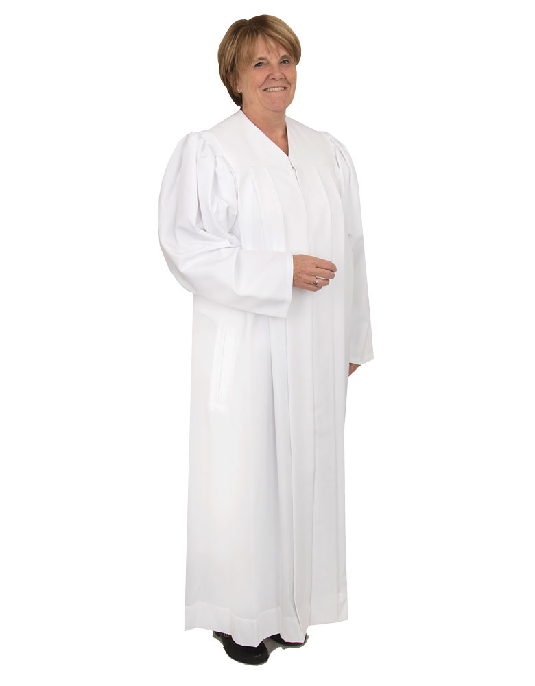 Women's Clergy Robe | White | Plymouth H-216F