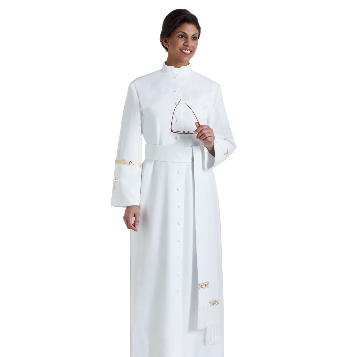 Women's Clergy Cassock | White