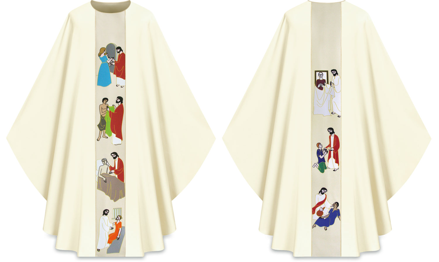 Chasuble | Works of Mercy | 5221 | Slabbinck