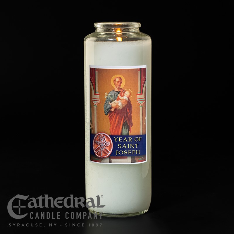 Year of Saint Joseph Candle | 6 Day Burn Time | per dozen